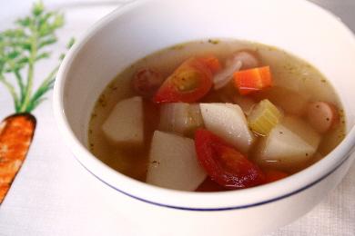 かぶとトマトのスープ