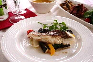 誕生日ディナー♪「鯛のワイン蒸しバージンオイル風味」
