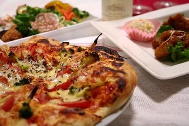 ピザでお祝い