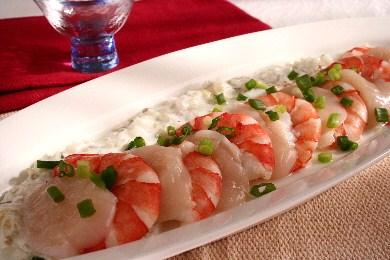 魚介のカルパッチョ ヨーグルト風味