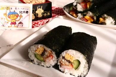 鰻の太巻き寿司