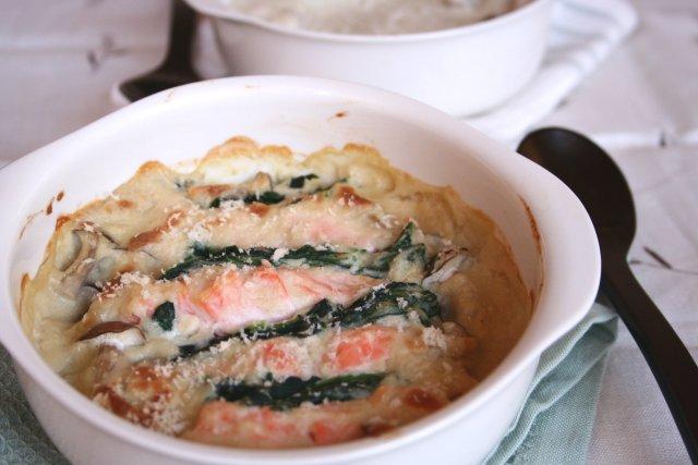鮭ときのこの里芋豆乳グラタン.jpg