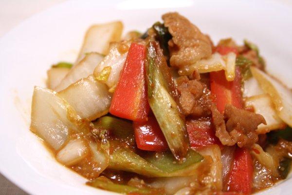 豚肉と白菜のピリ辛味噌炒め