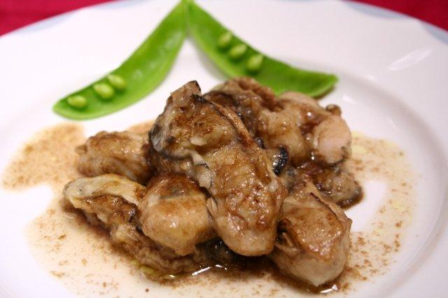 牡蠣のバルサミコソテー1