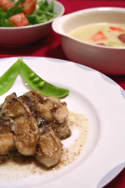 牡蠣のバルサミコソテー3