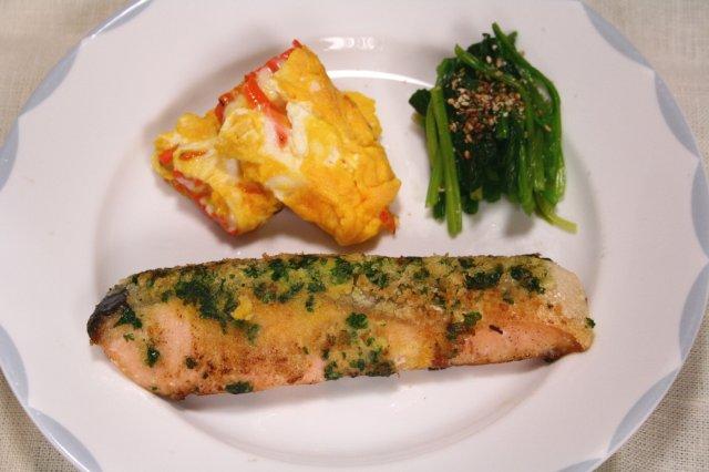 鮭のムニエル パセリパン粉焼き2