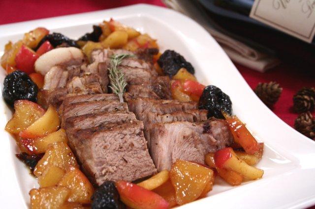 豚肉とフルーツのポットロースト1