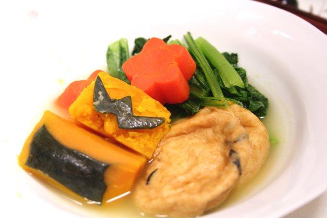 3色野菜とがんもの昆布茶煮