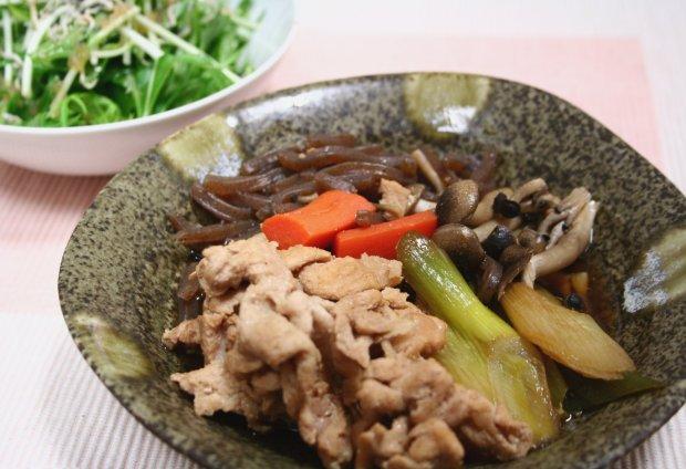 豚肉とねぎの和風煮