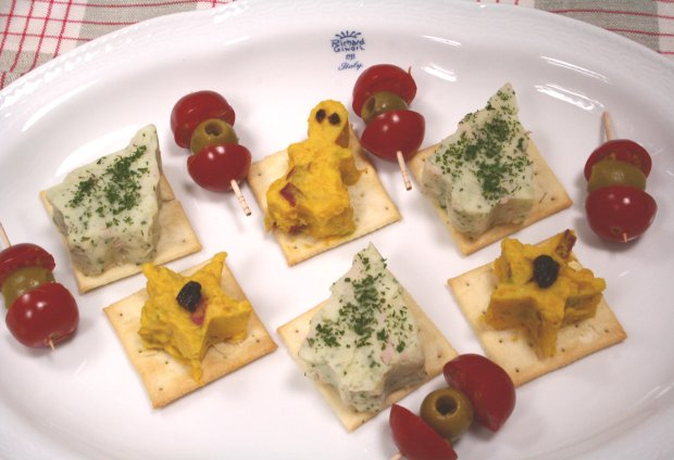 パンプキンサラダとポテトサラダのカナッペ1