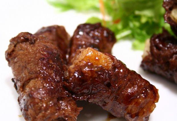 長いもの牛肉ロール生姜焼き