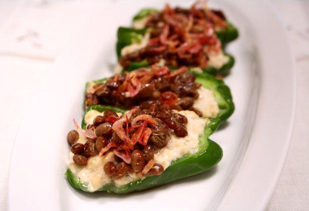 納豆&豆腐のピーマンボート