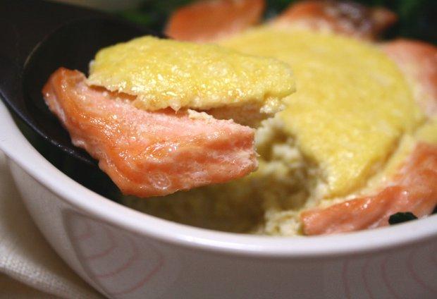 鮭と豆腐のエッグトーフグラタン3
