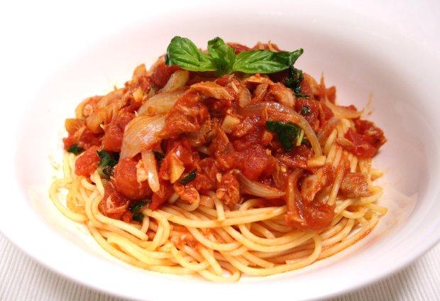 ツナのトマトバジルスパゲティー1