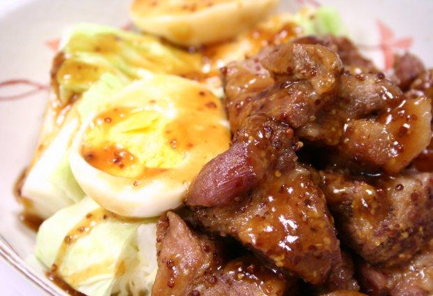 豚の甘辛マスタード角煮2