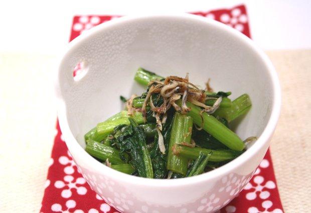 小松菜のじゃこ炒め