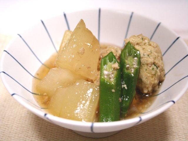 冬瓜と鶏麩だんごの冷やし鉢1