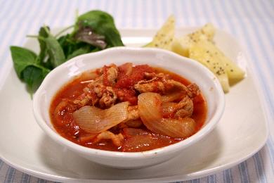 豚肉と玉ねぎのトマト煮