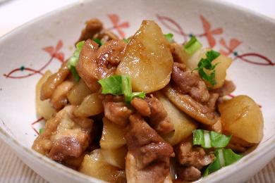 鶏肉とかぶのとろ照り煮1