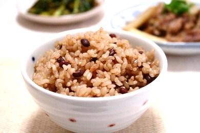 玄米あずきご飯