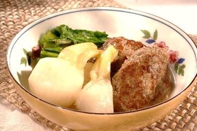 小かぶと肉団子のあっさり煮1