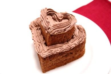 ダブルハートのチョコレートケーキ1