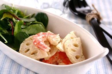 れんこんと海老のシンプルサラダ