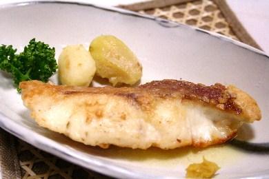 鯛のバター焼き