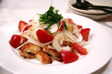 チキンのトマトサラダ仕立て