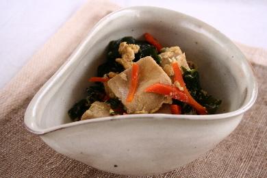 高野豆腐とワカメの炒り煮