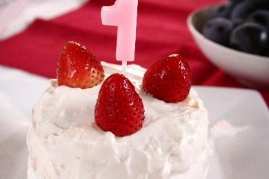 1歳のバースデイケーキ