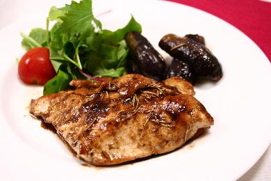 鶏と茄子のバルサミコソテー