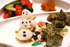 離乳食クリスマスプレート
