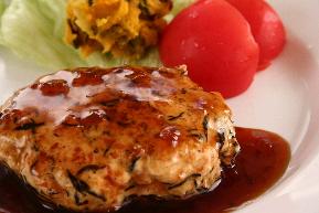 鶏ひじきハンバーグ おかか風味