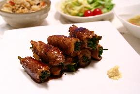 「ねぎねぎ豚肉巻き」と今夜の食卓