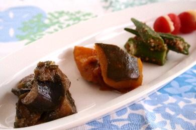 夏野菜の前菜4種のプレート