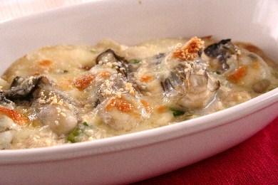牡蠣のねぎ豆腐グラタン