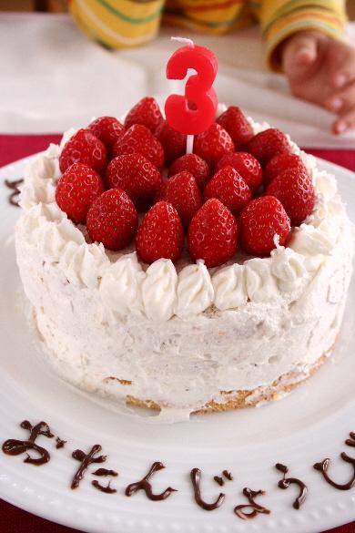 3歳☆バースデーケーキ