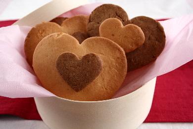 ハートのチョコレートクッキー