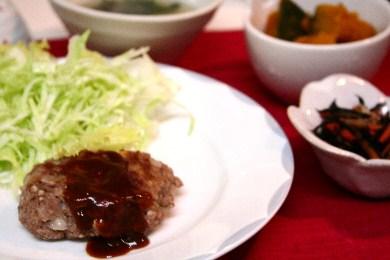 豆腐ハンバーグとおばんざい